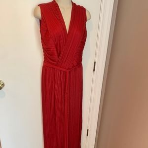 Halston Heritage pleated wrap gown